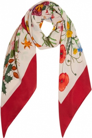 Gucci | Printed Silk-Twill Scarf | Net-A-Poter