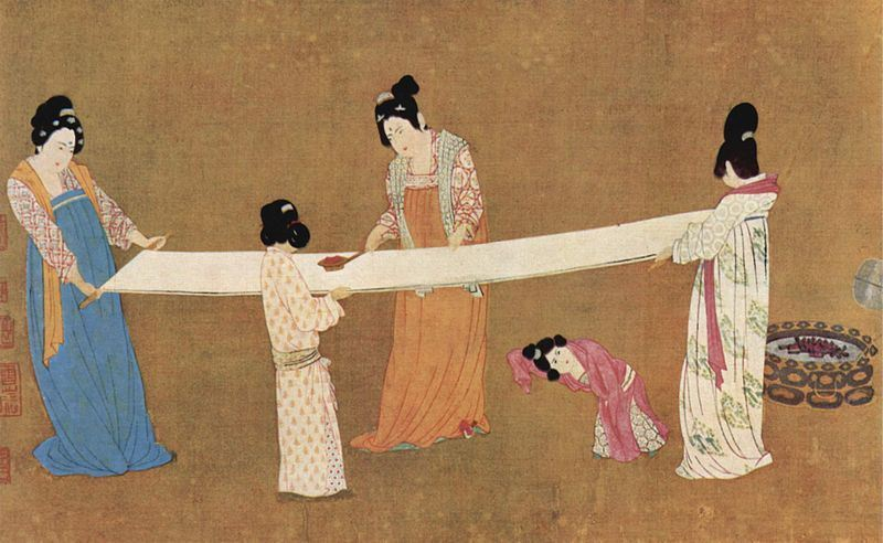Ladies Making Silk |  Emperor Huizong of Song