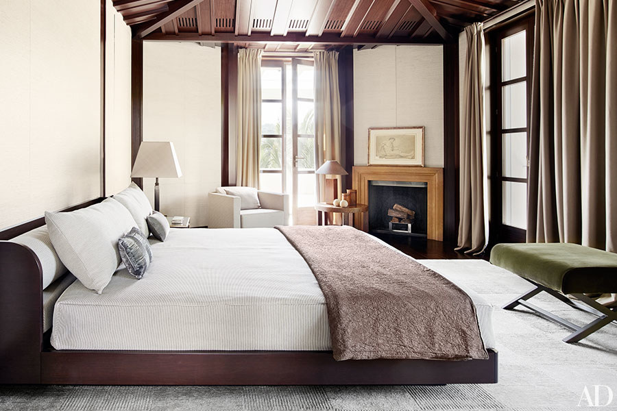 Master Bedroom in Giorgio Armanis St. Tropez Home | Architectural Digest