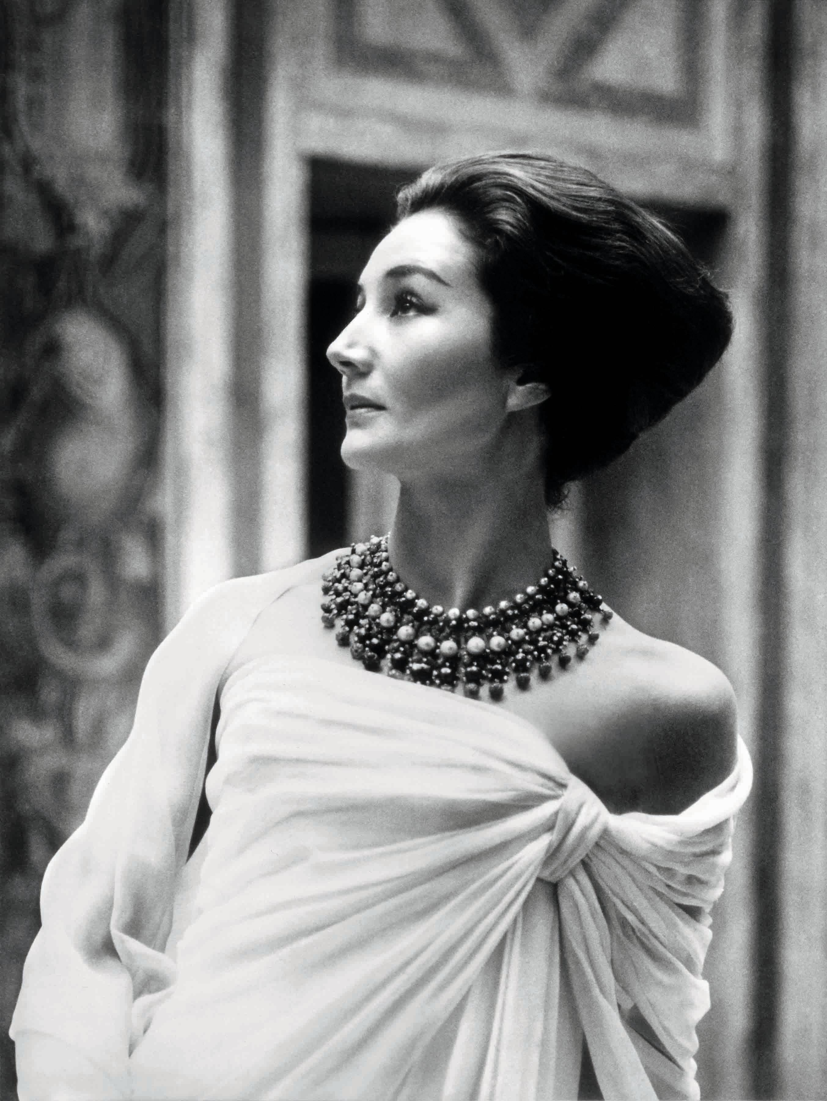 Jacqueline de Ribes in Christian Dior, 1959 |Photo: Roloff Beny/The Metropolitan Museum of Art