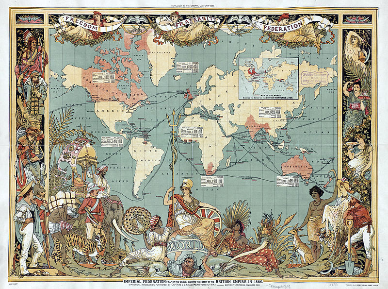 Map of the British Empire in 1886 | Walter Crane