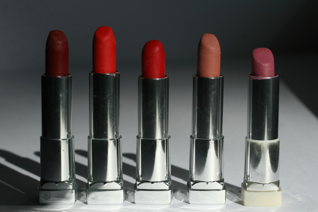 Maybelline Matts | Divine Wine, Craving Coral, Siren In Scarlet, Daringly Nude, Lust For Blush