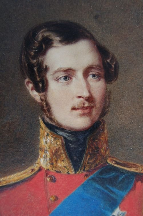 PORTRAIT OF PRINCE ALBERT OF SAXE-COBURG AND GOTHA, THE PRINCE CONSORT 1819-1861 BY ALFRED EDWARD CHALON