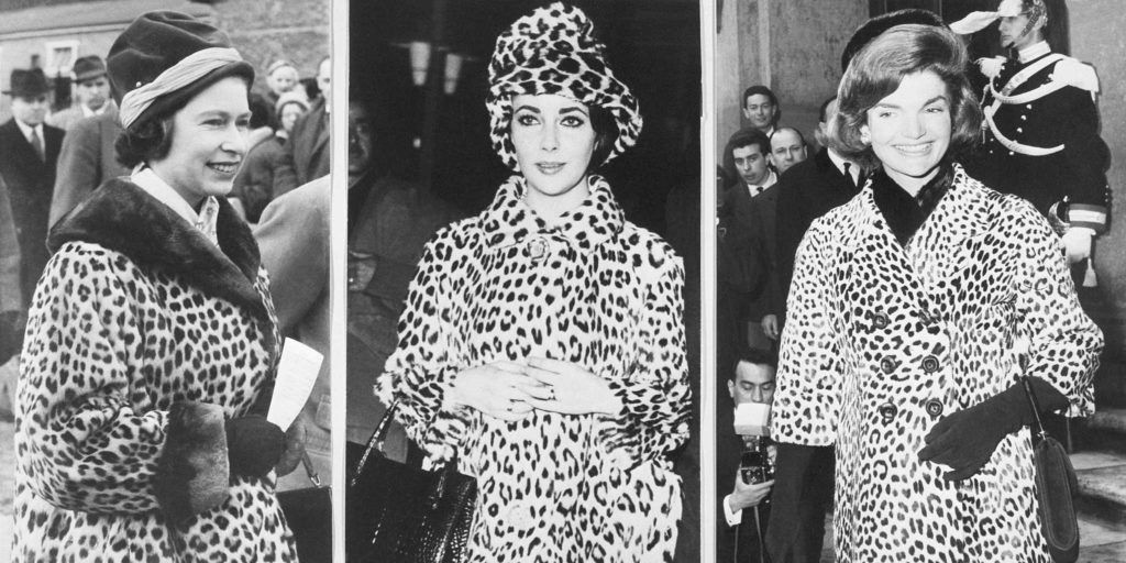 Image via Grazia Daily; From left: Princess Margaret, Elizabeth Taylor and Jackie Kennedy