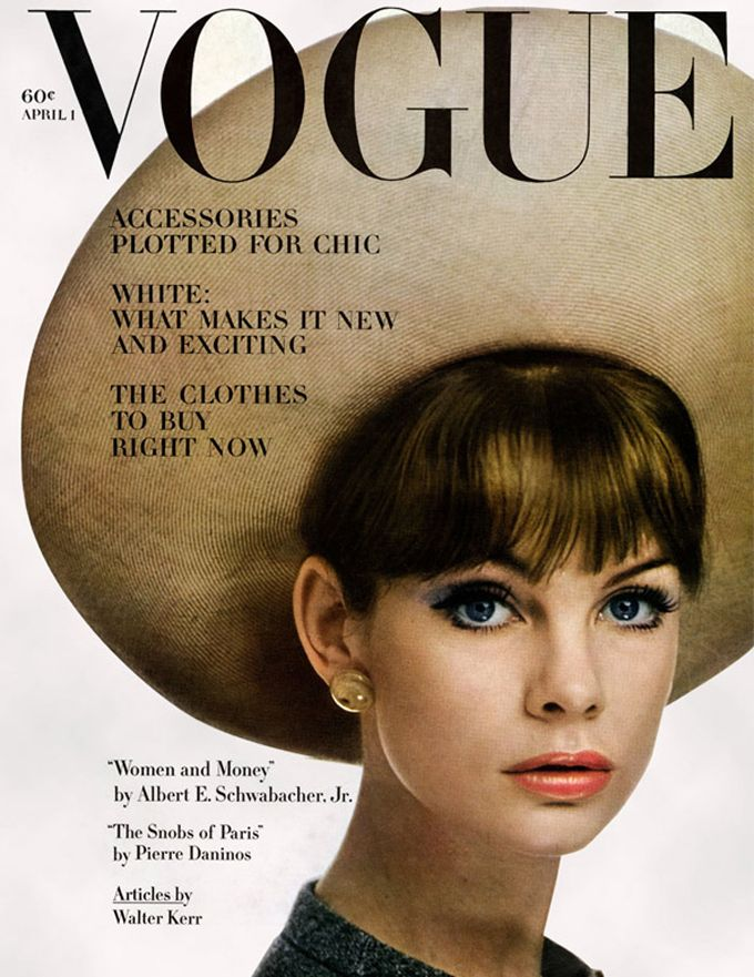 Jean Shrimpton; Vogue UK, April, 1963,; Photo: William Klein