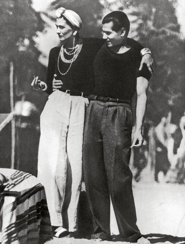 Gabrielle Chanel and Serge Lifar - 1937