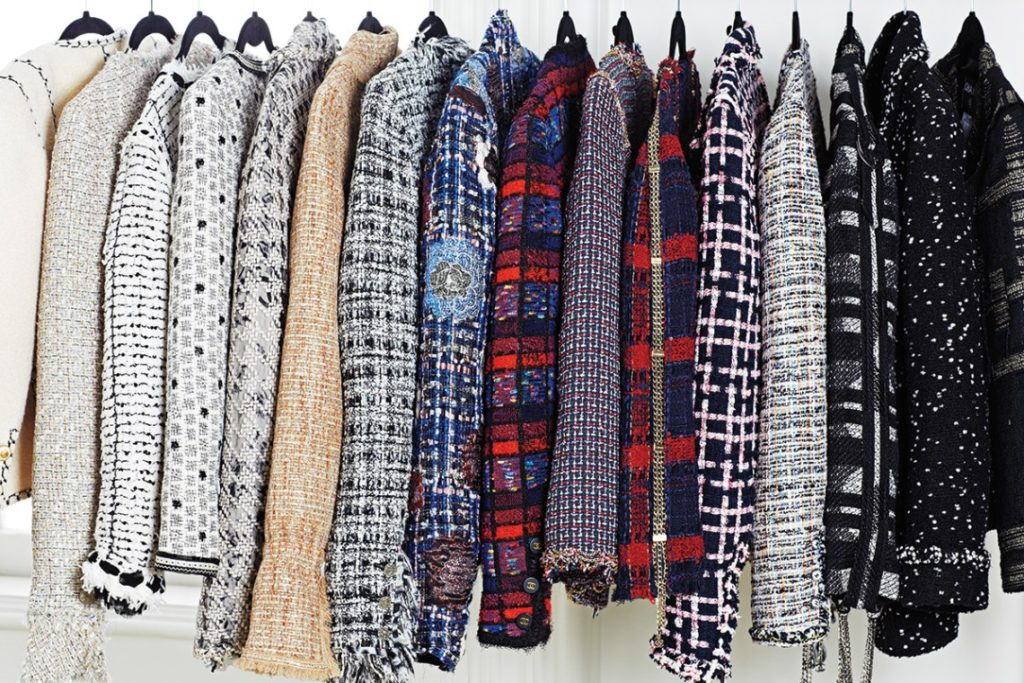 A selection of Chanel jackets in Rachel Zoe's closet. Image via The Zoe Report