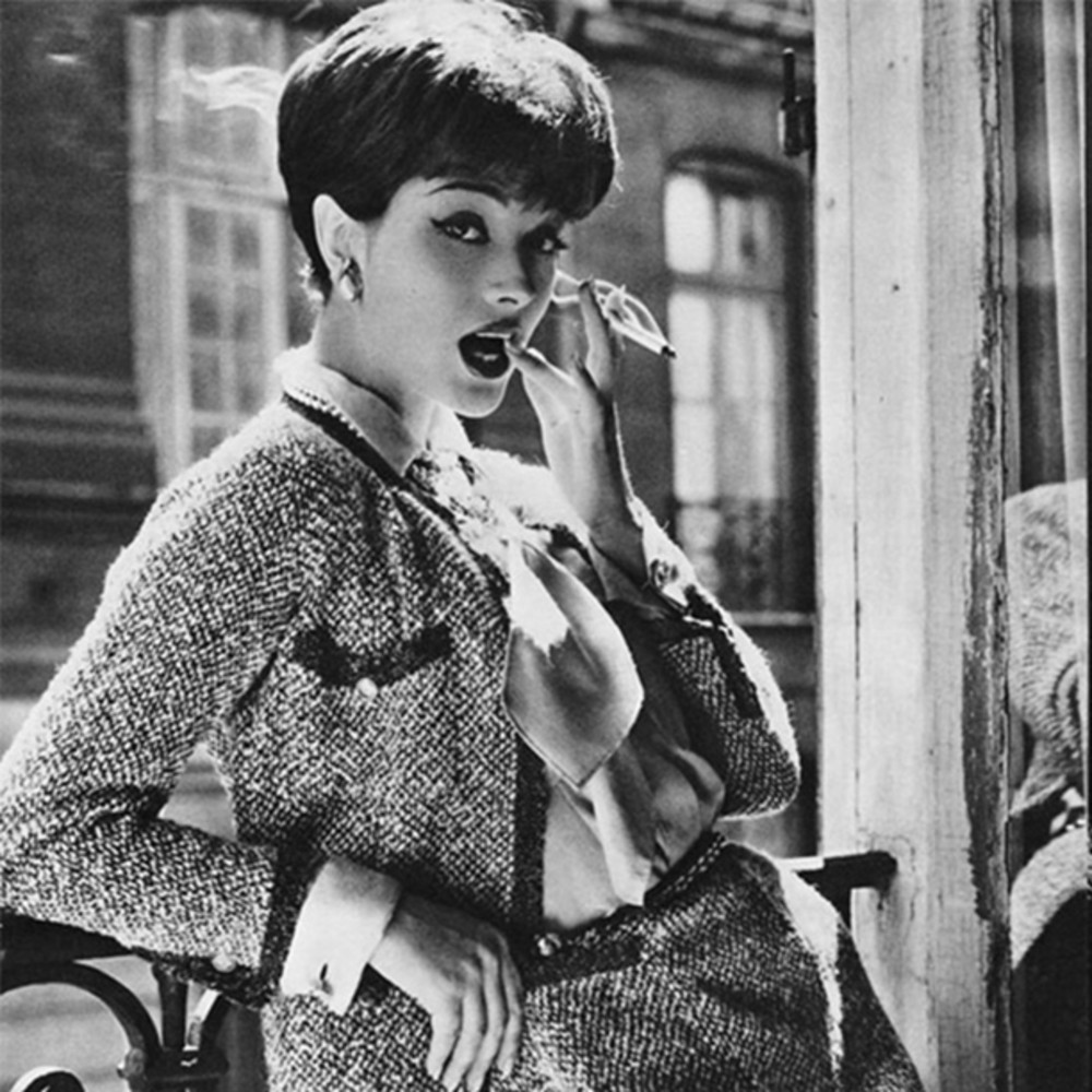 Model: Marie-Hélène Arnaud; Suit: Chanel Photo: Sante Forlano, 1958