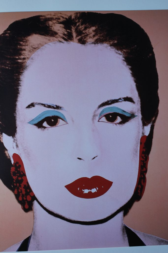 """Carolina Herrera,"" 1979, acrylic and silkscreen ink on linen, 40 x 40 in., by Andy Warhol. "" width=""565"" height=""560"" /> ""Carolina Herrera,"" 1979, acrylic and silkscreen ink on linen, 40 x 40 in., by Andy Warhol."