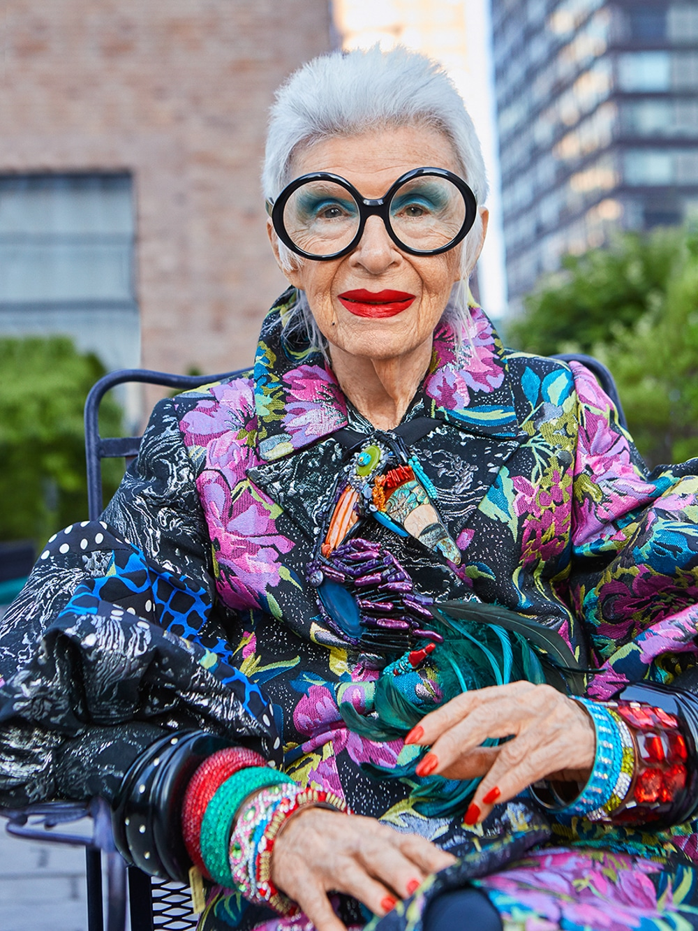 Iris Apfel, Vogue Portugal , August 2018, Photo: Luis Monteiro